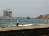 JR信越本線青海川駅ホーム