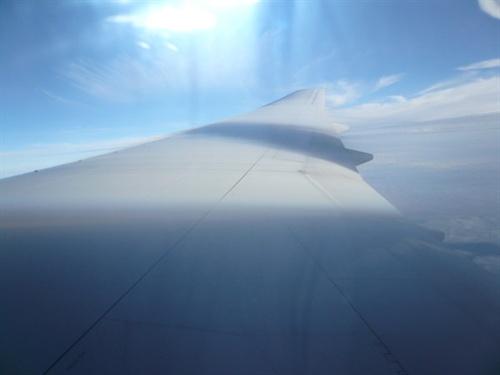 往芝加哥的飞机上照