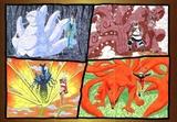 六尾雷兽羽高 七尾貉枫 八尾巨牛奇拉比 九尾妖狐鸣人