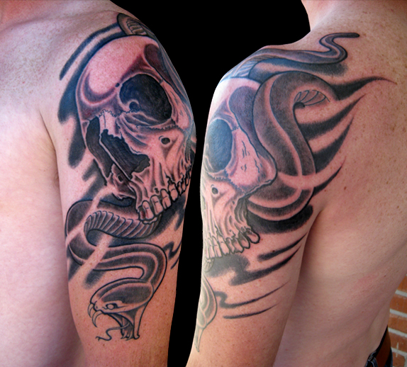 纹身魔蝎座分享展示
