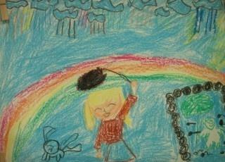 下雨天儿童画2图片