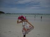 迷人的白沙滩