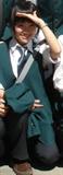 学校成人仪式上穿制服的照片~