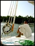 在阿斯旺乘坐帆船时的船夫02