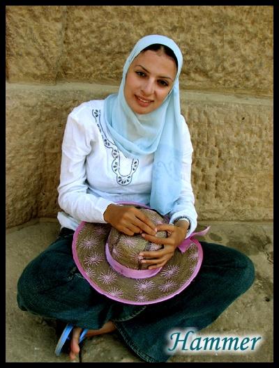 我们在埃及的美丽女导游娜娜