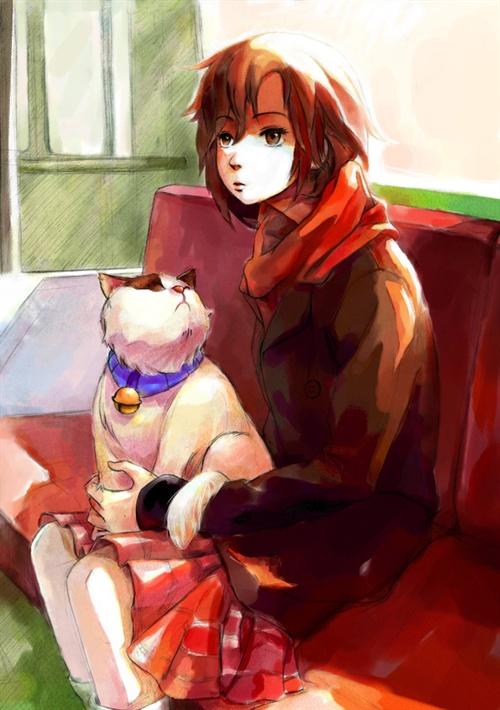 少女与猫-7